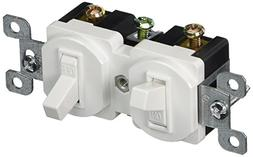 Single Pole Double Switch White 15A-120/277V