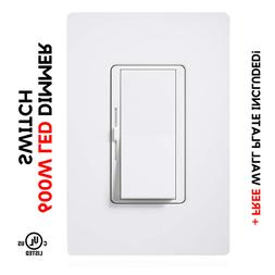 Single Switch & 3-Way Dimmer - LED Decora Dimmer Switch - LE