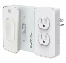 Switchmate Slim Snap-On Smart Light Switch and Power Outlet-