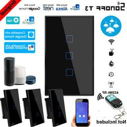 SONOFF 1/2/3 Gang Smart WiFi Wall Light Switch Touch Panel F