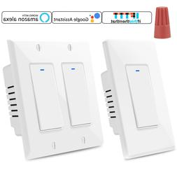 Smart 2 Button Light Switch WiFi Wall Switches Timer Work Wi