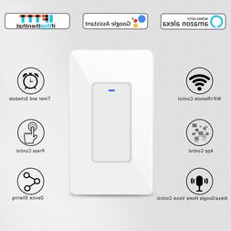 Smart Button Light Switch WiFi Wall Switches Timer Work With