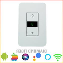 Smart Dimmer Light Switch WiFi in wall Remote Control for Al