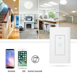 Smart LED Light Dimmer WiFi Wall Touch Switch For Alexa Goog