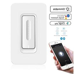 Smart Light Switch with Dimmer - No Hub Required - Control L