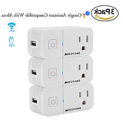 Smart Plug,Compatible With Alexa & Google Assistant, USB Cha