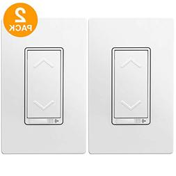 TOPGREENER Smart Wi-Fi Dimmer Switch, Neutral Wire Required,