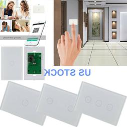 Smart Wi-Fi Touch Wall Light Switch Phone Remote Control for