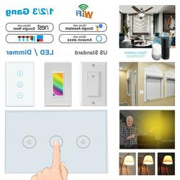 Smart Wi-Fi Wall Curtain Ceiling Fan Dimmer Light Switch For