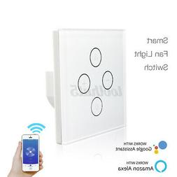 Smart WiFi Fan Light Switch in-Wall Ceiling Fan Lamp Switch