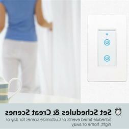 Smart WIFI Light Switch Remote For Alexa Google Home Schedul