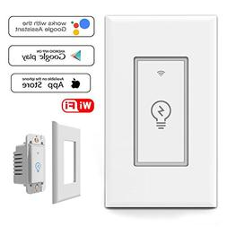 Smart WiFi Light Switch In-Wall, Wireless Lighting On/Off No