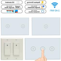 smart wifi light wall switch touch panel