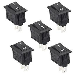 5Pcs 2 Pin Snap-in On/Off Position Snap Boat Rocker Switch 1