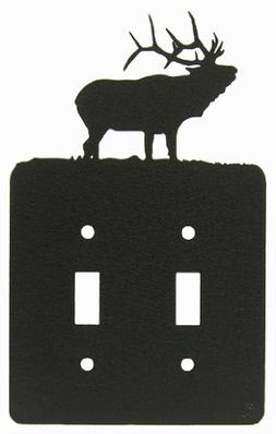 Solitary Elk Double Light Switch Plate Cover