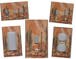 SOUTHWEST DESERT WITH CACTUS HOME WALL DECOR LIGHT SWITCH PL