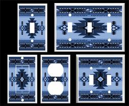 SOUTHWEST DESIGN BLUE  LIGHT SWITCH COVER PLATE