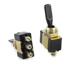 2 Pcs SPST ON/OFF/ON 3 Screw Terminal Toggle Switch AC 250V/