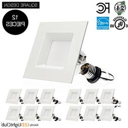 4-inch LED Square Downlight LED Trim, 3000K , 10W , Recesse