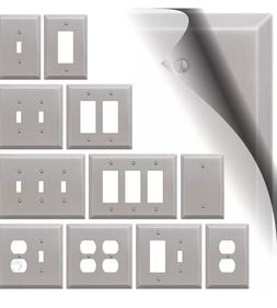 Stainless Steel Electrical Outlet Plate Cover Light Switch R