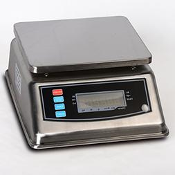Prime Scales 66lbs / 0.005lb Stainless Steel Washdown Portio