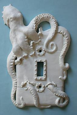 STEAMPUNK OCTOPUS light switch plate wall cover toggle outle