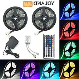 LED Strip Lights Kit, Yoland Waterproof SMD 5050 RGB 14Ft/4.