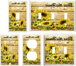 SUNFLOWER BLESS THIS HOUSE  LIGHT SWITCH COVER PLATE K1  U P