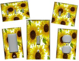 SUNFLOWERS IMAGE No.3 KITCHEN HOME DECOR LIGHT SWITCH PLATES