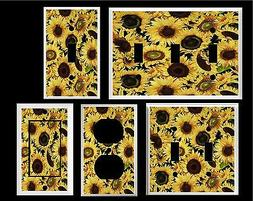 SUNNY SUNFLOWER FIELD #2  IMAGE   LIGHT SWITCH COVER PLATE H