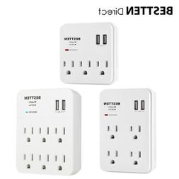 Surge Protector Wall Tap Adapter Electrical Multi Outlet Plu