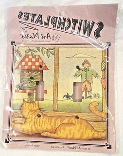 Switch Plate Cat Double Toggle Art Plates