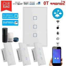 SONOFF 1/2/3 Gang Smart WiFi Wall Light Switch For Google Ho