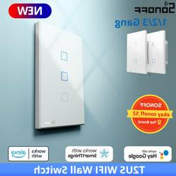 Sonoff T2 US Wifi Smart Home Wall Touch Light Switch RF Voic