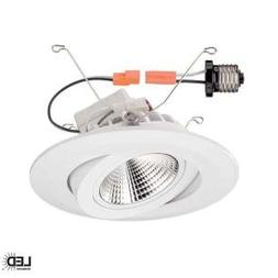 T61 / Commercial Electric 6 in. Recessed White Gimbal LED Tr