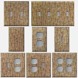 Tan Crosses Christian Wall Decor Light Switch Plates & Outle