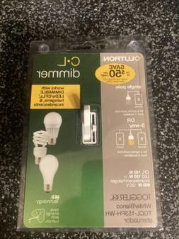Lutron Electronics TGCL-153PH-WH Toggle CFL-LED Dimmer, Whit