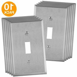 Toggle Light Switch Stainless Steel Wall Plate Corrosive Res