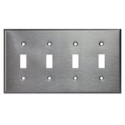 Enerlites Toggle Light Switch Wall Plate, Standard Size 4-Ga
