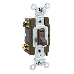 15 Amp 4-Way Toggle Switch Commercial - Brown
