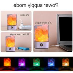 Touch Switch Natural Himalayan USB Crystal Salt LED Lamp Nig