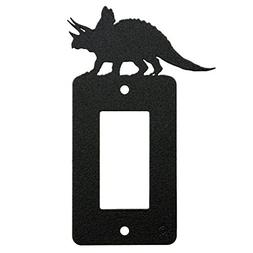 Triceratops Dinosaur Single Rocker Light Switch - GFCI Power