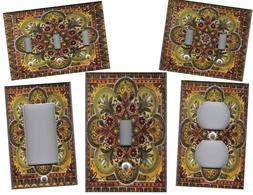 TUSCAN ITALIAN TILE IMAGE KITCHEN HOME DECOR LIGHT SWITCH PL