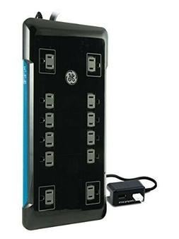GE UltraPro Surge Protector w/ USB Ports 10 Outlets 2 Chargi
