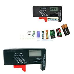 Universal Aa/aaa/c/d/9v/1.5v LCD Display Battery Tester Butt