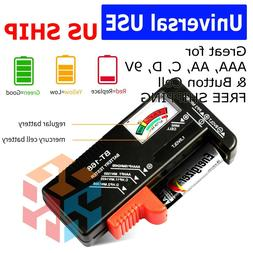 Universal Battery Tester Checker For AA AAA C D 9V 1.5V Butt