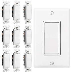 BESTTEN Upgraded 3 Way ON/OFF Light Switch, Quiet AC Paddle