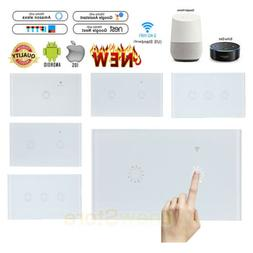 US 1/2/3 Gang Smart Home WiFi Touch Light Wall Switch Panel