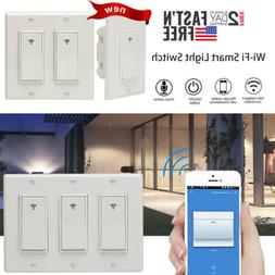 US 1/2/3 Gang Switch Smart WiFi Wall Light Socket Timer for