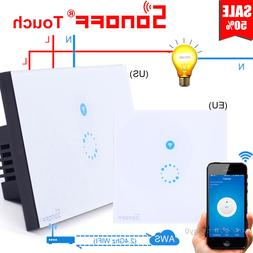 Sonoff US/EU 1 Gang WiFi Panel Touch Remote Wall APP Control